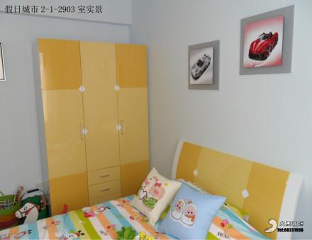 2018面积76平现代二居儿童房效果图片