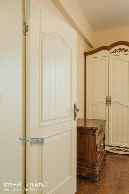 精美面积143平复式卧室美式装修欣赏图片