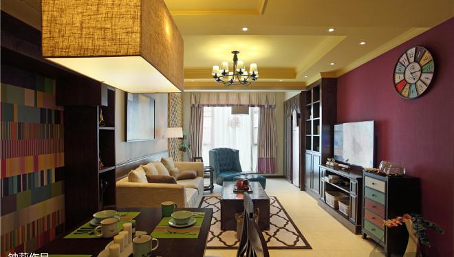2018面积132平复式客厅混搭装修设计效果图片大全
