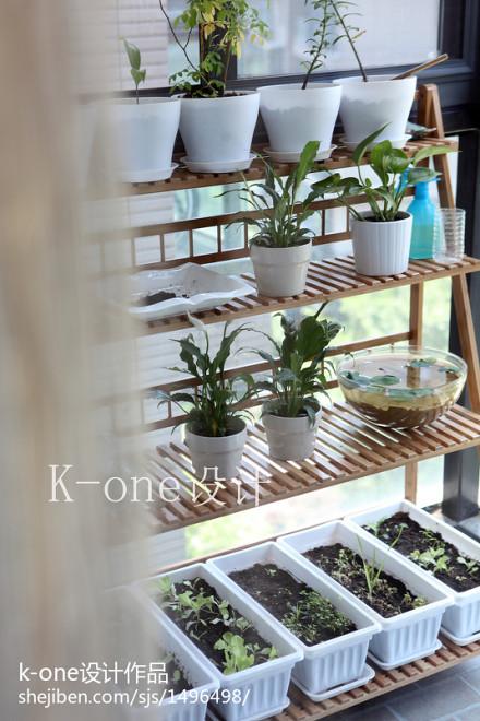 精美现代三居阳台实景图片欣赏