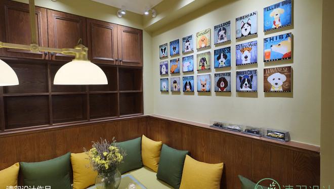 典雅74平混搭二居餐厅设计图