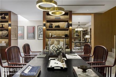 面积129平别墅休闲区中式装修设计效果图片欣赏