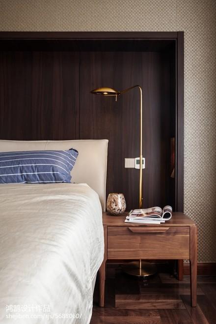 2018精选面积90平现代三居卧室装修设计效果图片