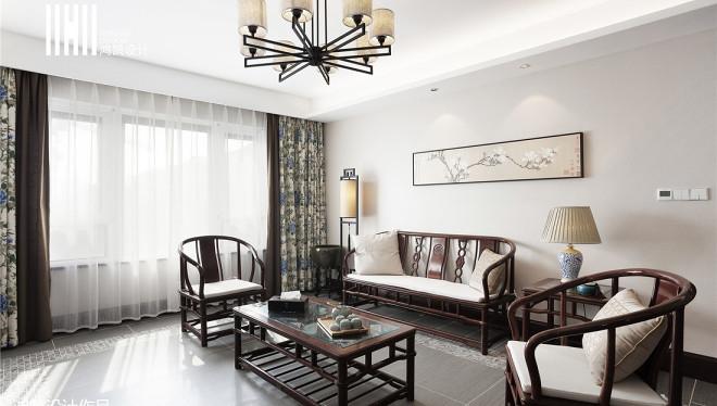 精美面积96平中式三居客厅效果图