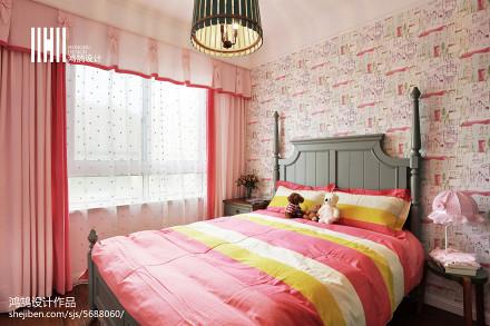 面积108平美式三居儿童房效果图片欣赏