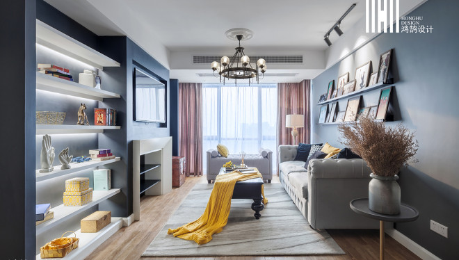 2018精选92平方三居客厅美式欣赏图片大全