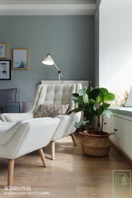 2018北欧二居客厅实景图