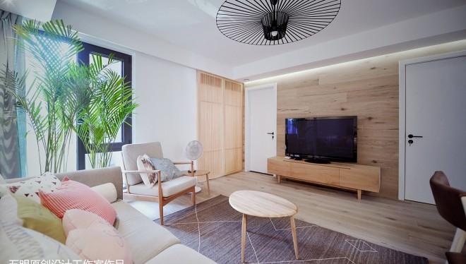 精美小户型客厅日式装修实景图