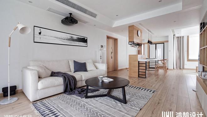 2018精选84平米二居客厅日式装修效果图