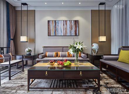 精选137平米中式别墅客厅装修图片