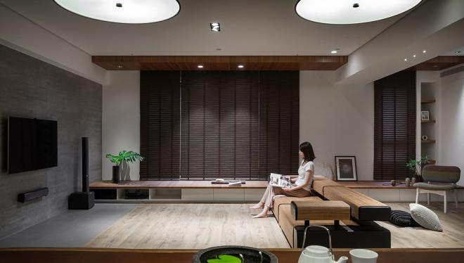 悠雅115平中式四居客厅效果图